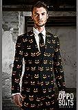 Adult Mens Halloween noir citrouille costume Oppo XXL (EU60 UK50)