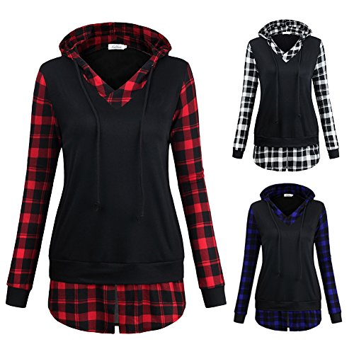 Woopower - Top à manches longues - Femme Bleu/noir XXL black+ red