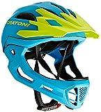 Cratoni Fahrradhelm C-Maniac, Blue/Lime Matt, 58-61 cm, 112406B3