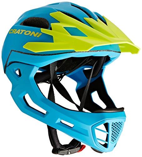 Cratoni Fahrradhelm C-Maniac, Blue/Lime Matt, 52-56 cm, 112406B1