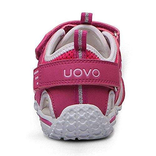 chengniu sandali estivi a strappo ragazzo con solette foderate di pelle Sandali sportivi da Arrampicata bambino Rosa caldo