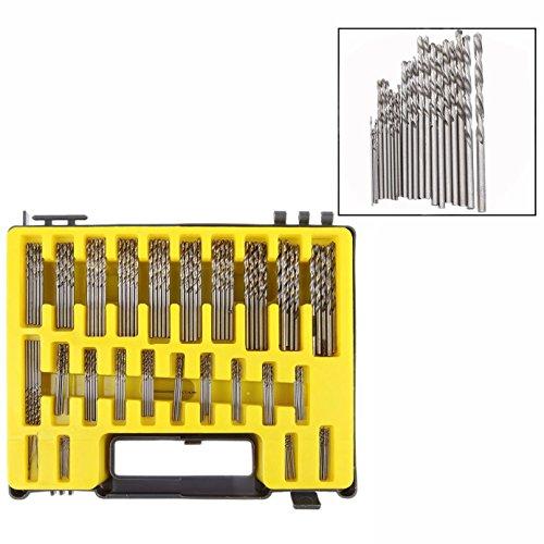 Cisixin 150 tlg 0.4-3.2mm Mini Spiralbohrer Box Blaskasten kleines Mikro Lochsäge Kit