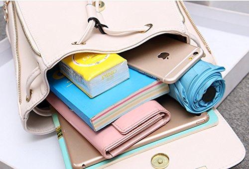 Longzibog Dual verstellbare Schultergurte und H?ngeschlaufenband 2016 Neue Damen accessories hohe Qualit?t Einfache Tasche Schultertasche Freizeitrucksack Tasche Rucks?cke Gelb