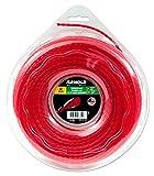 Arnold Recortadora de hilo AF 3,13, 3 mm x 43,9 m, redondo, girar, rojo, 1082-U5-3044