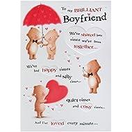 Hallmark Birthday Card For Boyfriend 'Lots Of Love' - Medium