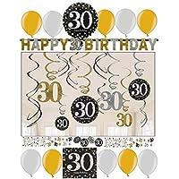 Konsait 30 Geburtstag Dekoration 30 Geburtstag Swirl