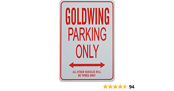 Goldwing Parking Only Sign Auto