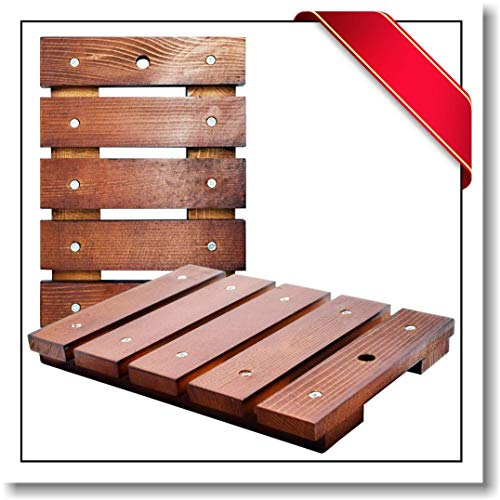 Innovatronix Untersetzer/Platzdeckchen aus Kiefernholz, rechteckig, aus echtem Kiefernholz, vielseitig einsetzbar, 21,6 x 15,2 x 2,2 cm, 2 Stück -