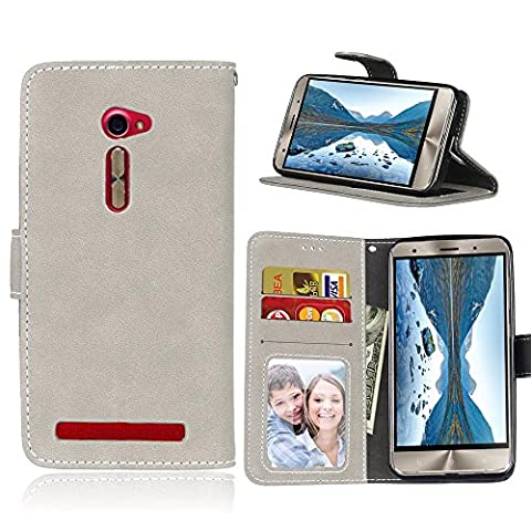 BONROY® Coque pour Asus ZenFone 2 ZE500CL (5.0 Pouces),Housse en cuir pour Asus ZenFone 2 ZE500CL (5.0 Pouces),imprimé étui en cuir PU Cuir Flip Magnétique Portefeuille Etui Housse de Protection Coque Étui Case Cover avec Stand Support Avec des Cartes de Crédit Slot et Fonction Support pour Asus ZenFone 2 ZE500CL (5.0 Pouces)