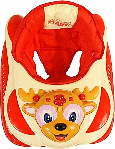 Andador para bebés regulable en altura con juguetes y sonido ARTI Reno 03 naranja