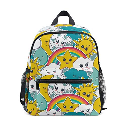 Kinderrucksack, leichte Vorschul-Tasche für Kinder, Mädchen, Jungen, Sun and Cloud Design Tasche