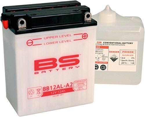 BS Battery 310564 BB12AL-A2 Motorrad Batterie mit Säurepack, Schwarz