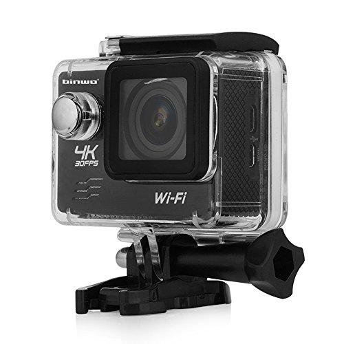Galleria fotografica Binwo 4K macchina fotografica subacquea di azione WiFi FHD 1080P 2.0 pollici fotocamera impermeabile di sport, macchina fotografica del casco 16MP 170 gradi grandangolare DVR videocamera
