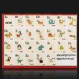 faway Alphabet-Lernen, für Kinder-, Stoff-Poster –, Bildung, Spielzeug