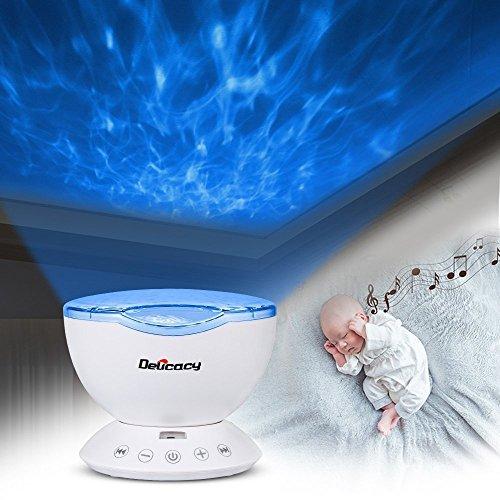 [Nachtlicht Kinder] Projektor lampe,DELICACY Ozeanwelle Projektor Licht Schlaf Nachtlicht Lampe mit Multifunktionale Fernbedienung,Romantische Dekoration Licht für Baby Kinder Schlafzimmer Wohnzimmer Party Kindergeburtstag Geschenk
