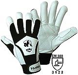 Unbekannt Griffy Nappaleder Montagehandschuh Größe (Handschuhe): 9, L EN 388 Cat II Panda 1730 1 Paar