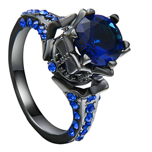 gnzoe-jewelry-wedding-ring-for-women-black-gold-plated-princess-cut-lab-created-blue-solitaire-ring-