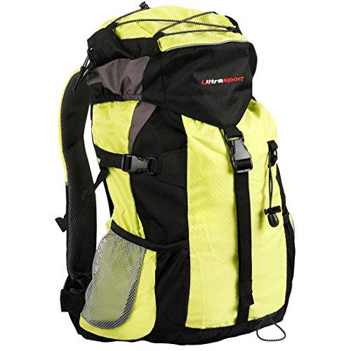 Ultrasport Outdoor- und Trekkingrucksack inkl. Regenhülle, Outdoor Rucksack für Camping, Wandern, Zelten – Backpacker Rucksack für Männer und Frauen, ultraleicht / 25 Liter Volumen, wasserdicht