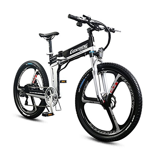 "51t93MwNP L. SS500  - GTYW Electric Folding Bicycle Mountain Bicycle Adult Bicycle - 26""-90km Life"
