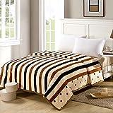 QTQHOME Flanell-Decke Super Weich Superfine Faser,Warm Gemütlich Bett Oder Sofa Decke Doppelbett Queensize-Bett K?nig Alle Jahreszeiten Pflegeleicht-C 150x200cm(59x79inch)