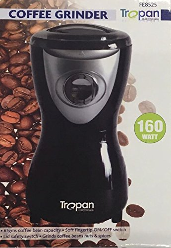 Tropan Black Electric Whole Coffee Bean Nut Spice Blade Grinder Blender Espresso 160W #TROPAN 51t93pkHogL