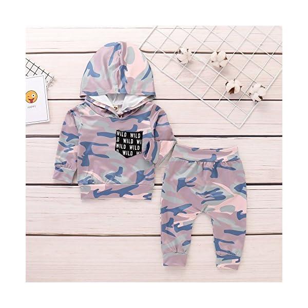 Trisee Ropa Bebe Niño otoño Invierno Trajes de Recién Nacido Camuflaje Manga Larga Camisetas + Pantalones Conjuntos de… 1