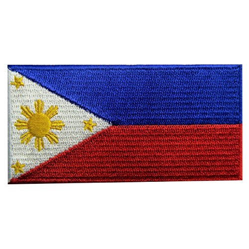 Kostüm Von Den Philippinen - Philippinen Flagge bestickt Patch Filipino Eisen