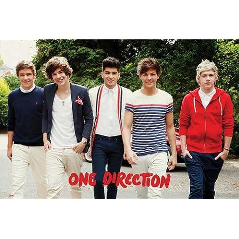 Empire Merchandising - Poster, motivo: gruppo pop One Direction, con accessori per il montaggio Avec 2 baguettes