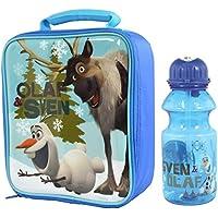 Disney Frozen Olaf und Sven Lunch Bag mit Trinkverschluss Tritan Trinkflasche (400 ml) preisvergleich bei kinderzimmerdekopreise.eu