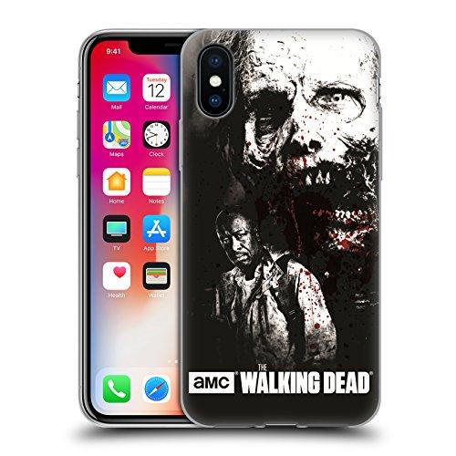 Ufficiale AMC The Walking Dead Rick Faccia Insanguinata Sangue Cover Morbida In Gel Per Apple iPhone 6 / 6s Morgan E Lurker