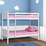 UEnjoy 3FT Wood Bunk Beds Double Solid Pine Wood Bed Frame White