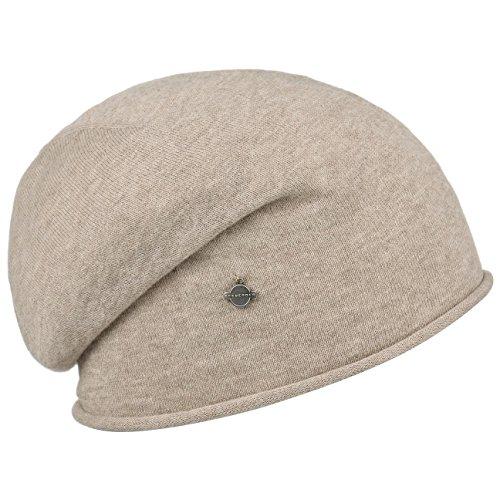 Beanie a Bord Roule Seeberger bonnet pour femme bonnet d´ete Beige