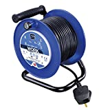 Masterplug LDCC2513/4BL 13amp 4 Socket 25 meter Open Cable Reel - Blue