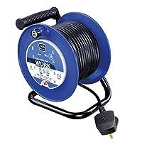 Masterplug LDCC2513/4BL 25 m 13 A 4 Socket Open Cable Reel