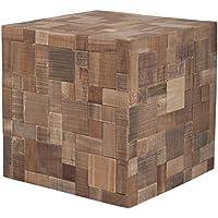 2400002 Zuiver Deco Mosaico tavolino Brown legno 40 x 40