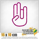The Shocker Hand 16 x 10 cm In 15 Farben - Neon + Chrom! JDM Sticker Aufkleber