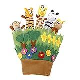 Holzkopf Tierfingerpuppe Handschuh Spielzeug