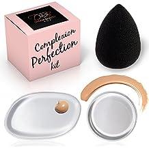 Mejor Silicona Kit de Belleza licuadora y esponja–sueño belleza caja 3piezas Original tez perfección–2Clear Gel, maquillaje aplicador, relleno de cojín–1Premium Negro, sin látex, lágrima beautyblender