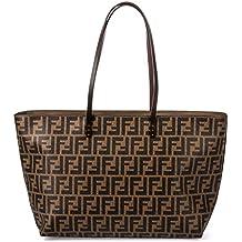 Fendi Borsa Shopping Donna 8BH185G87F0QT2-MCF Pelle Marrone