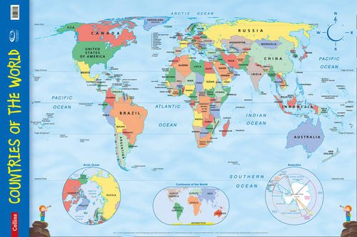 Countries of the World: Wall Map (Collins Primary Atlases) por Collins Maps