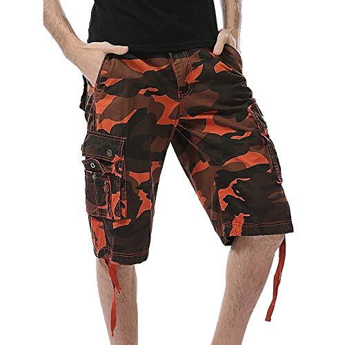 BOLAWOO-77 Kurz Hose Arbeitshose Sommer Sicherheitshose Arbeitsbekleidung Schutzhose Arbeitsshorts Tarnung Mode Marken S (Color : Or, Size : 3XL)