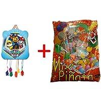Patrulla Canina 1145, piñata Basic 28x23cm, con Relleno de piñata (50 Productos,