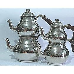 Kupfer Teekanne,Teekanne,türkischer tee,türkische teekanne,caydanlik,teekocher,wasserkocher (3-4 Personen)