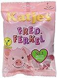 Katjes Fred Ferkel – Kultige Schaumzucker Süßigkeiten in Schweinchen-Form – Leckere Veggie-Nascherei (16 x 200 g)