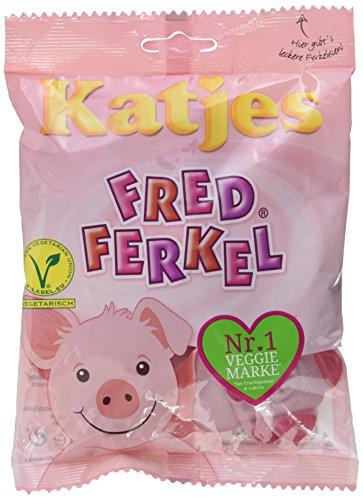 Katjes Fred Ferkel - Kultige Schaumzucker Süßigkeiten in Schweinchen-Form - Leckere Veggie-Nascherei (16 x 200 g)