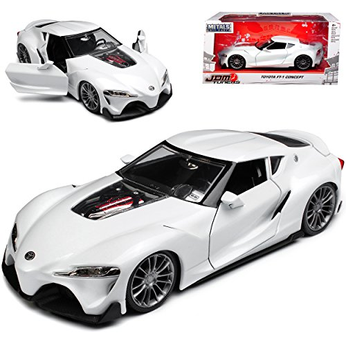 Jada Toyota FT-1 Concept Coupe Weiss Studie Toyota Supra 2018 1/24 Modell Auto (Toyota Modell Supra)