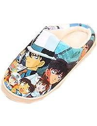 Bromeo Detective Conan Anime Super Suave Zapatillas de estar por casa Felpa Zapatos