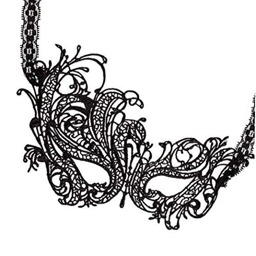 Lady Black Sexy Lace Schablonen-Partei-Abendkleid-Schablonen-Kostüm-Maskerade Für Karneval Venezianischen Karnevals-Masken Für (Schwerpunkt Kostüm)