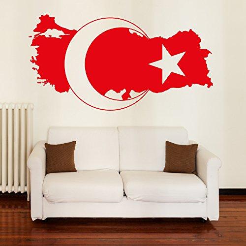 Preisvergleich Produktbild A5001 | Meccastyle | Wandtattoos - Türkei Landkarte- XL - 150cm x 80cm- 03. Weiß