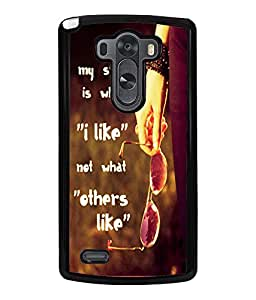 Printvisa 2D Printed Quotes Designer back case cover for LG G3, - D4536
